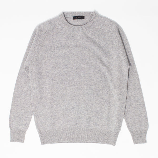 Lambswool Crew Neck Sweater - Light Grey