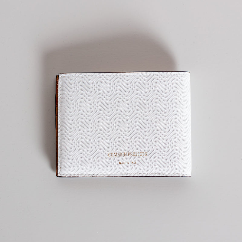 Standard Wallet - White Embossed
