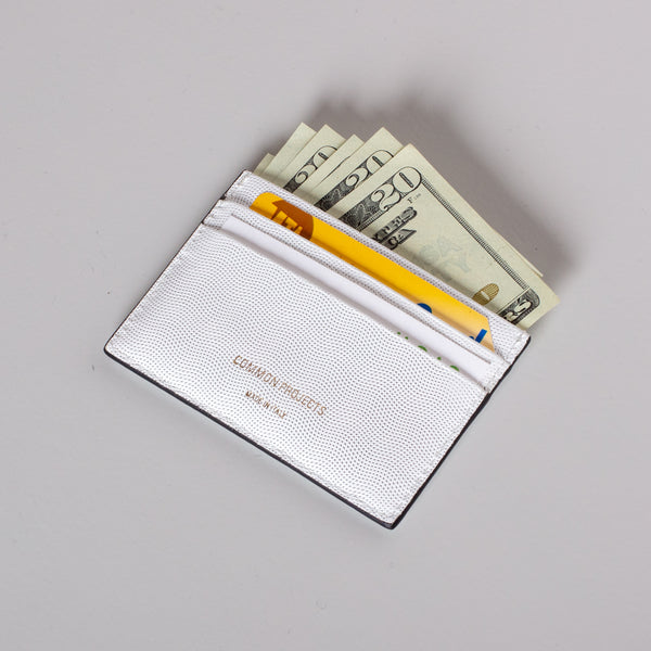 Multi Card Holder - White Embossed