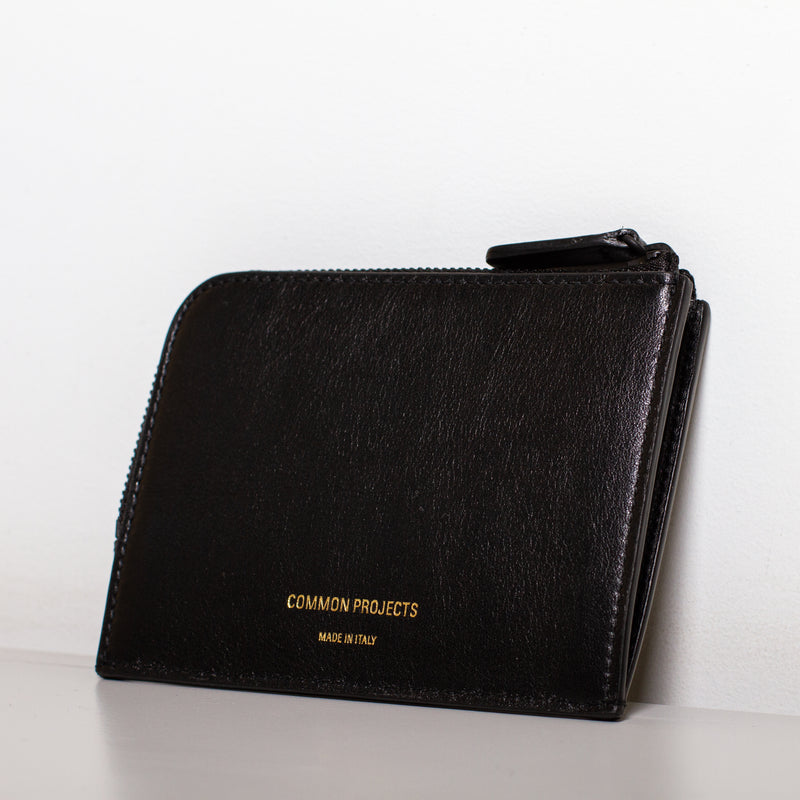 Zipper Wallet - Black Soft