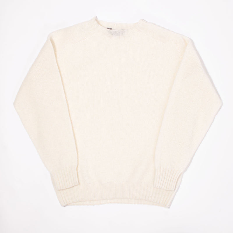 Brushed Shetland Sweater - Winter White