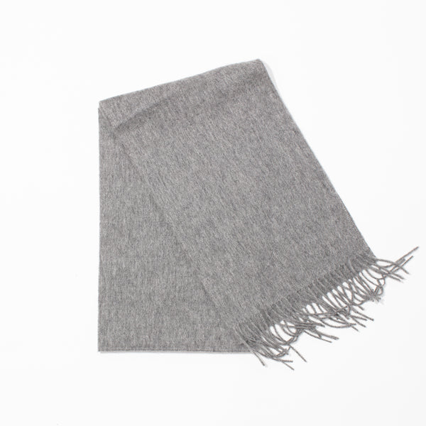 Lambswool Plain Scarf - Uniform Grey