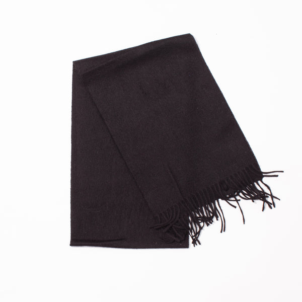 Lambswool Plain Scarf - Black