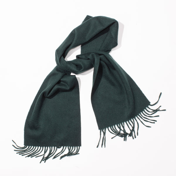 Lambswool Plain Scarf - Rainforest