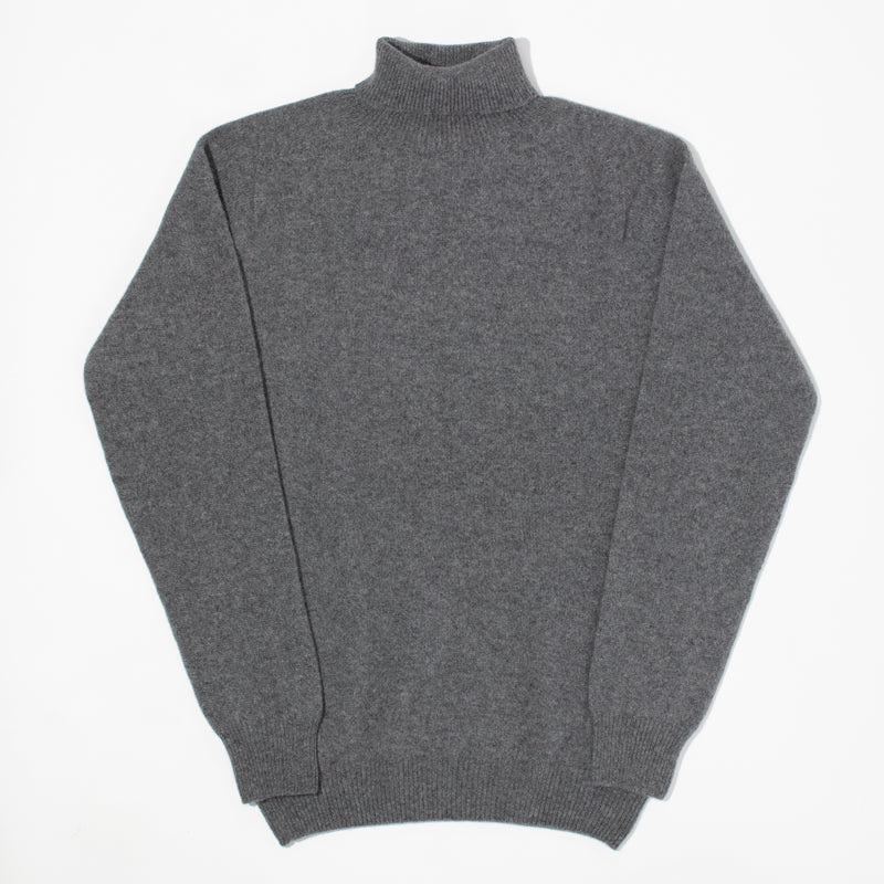 Cashmere Turtleneck Sweater - Mid Grey