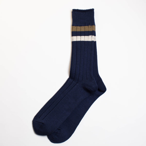 Anonymous Ism - Two Line Crew Socks - Navy
