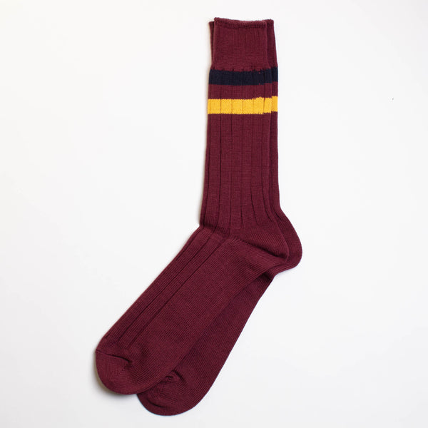 Anonymous Ism - Two Line Crew Socks - Wine