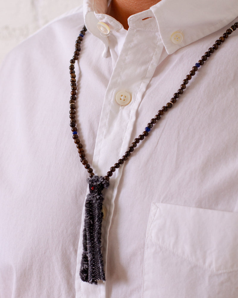 Mikia - Beads x Denim Necklace - Bronzite