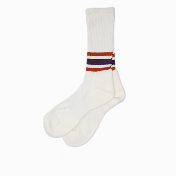 anonymous ism ankle line crew socks purple
