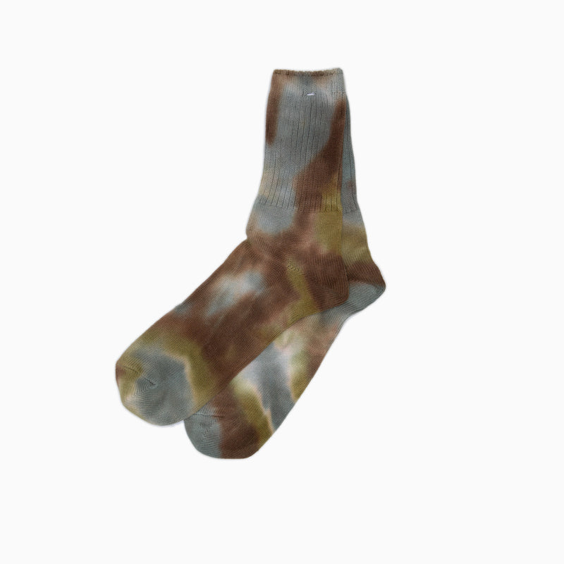 anonymous ism tie dye 3Q socks olive