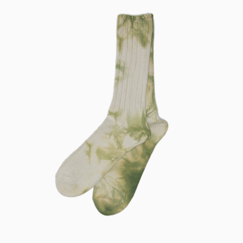 anonymous ism uneven dye crew socks green