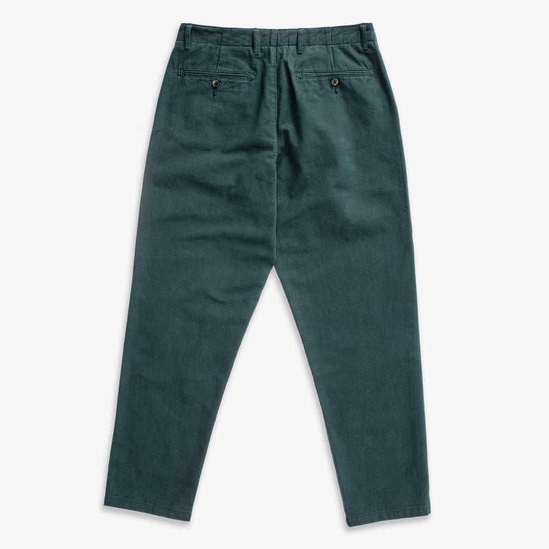 Unis New York - Ike Uniform Pant - Bottle Green Twill