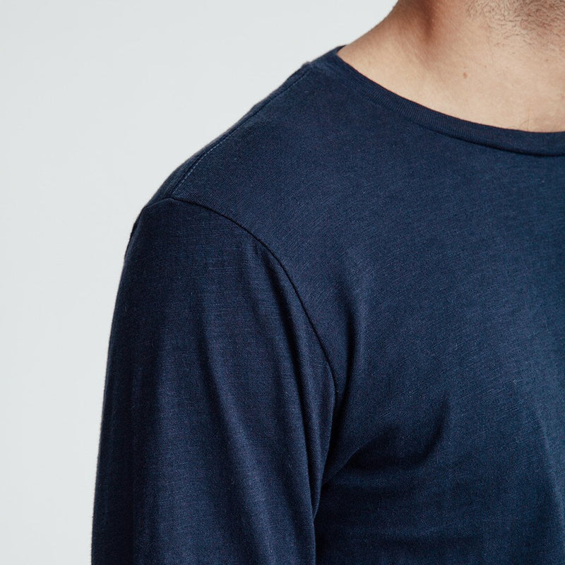 Unis Noah Long Sleeve T Shirt Navy