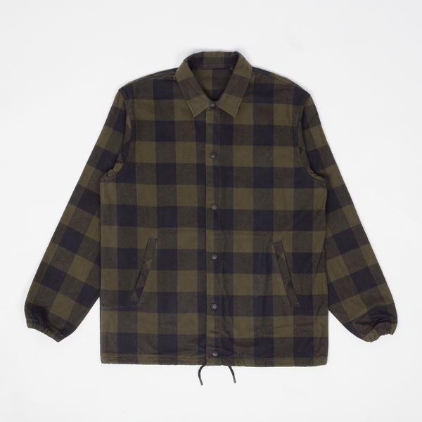 Unis New York - Rocky Coach Jacket - Olive Buffalo Plaid