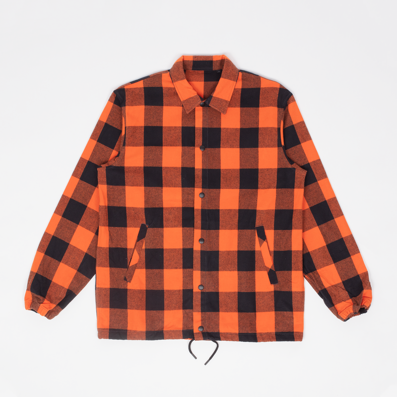 Unis New York - Rocky Coach Jacket - Orange Buffalo Plaid