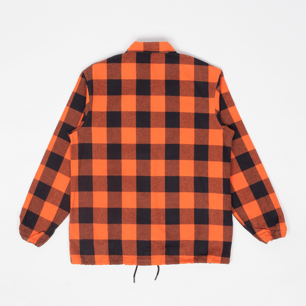 Rocky - Orange Buffalo Plaid