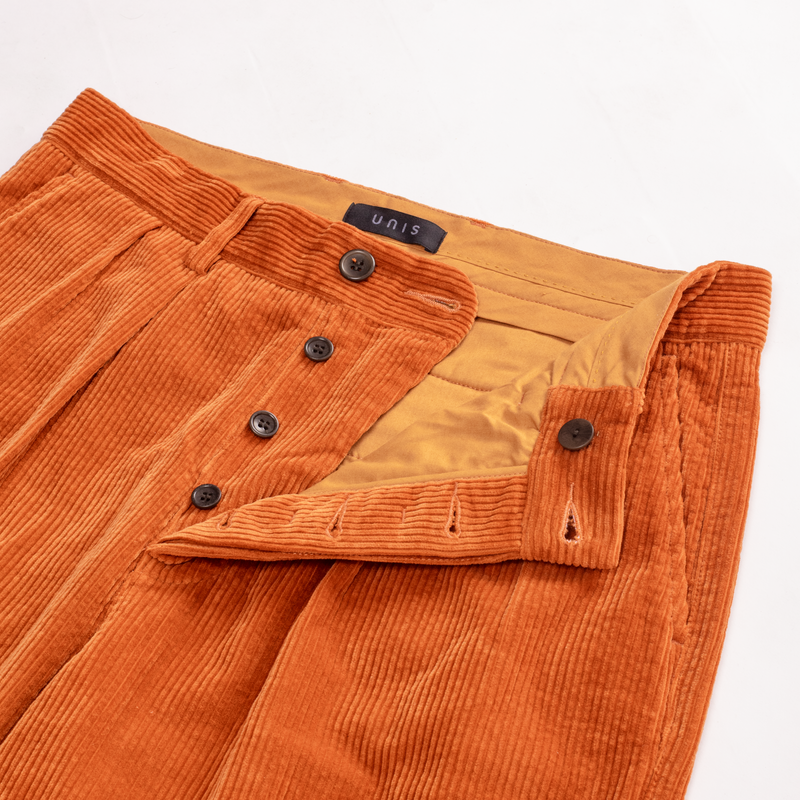 Unis New York - Roger Double Pleat Trouser - Autumn Wide Wale Corduroy