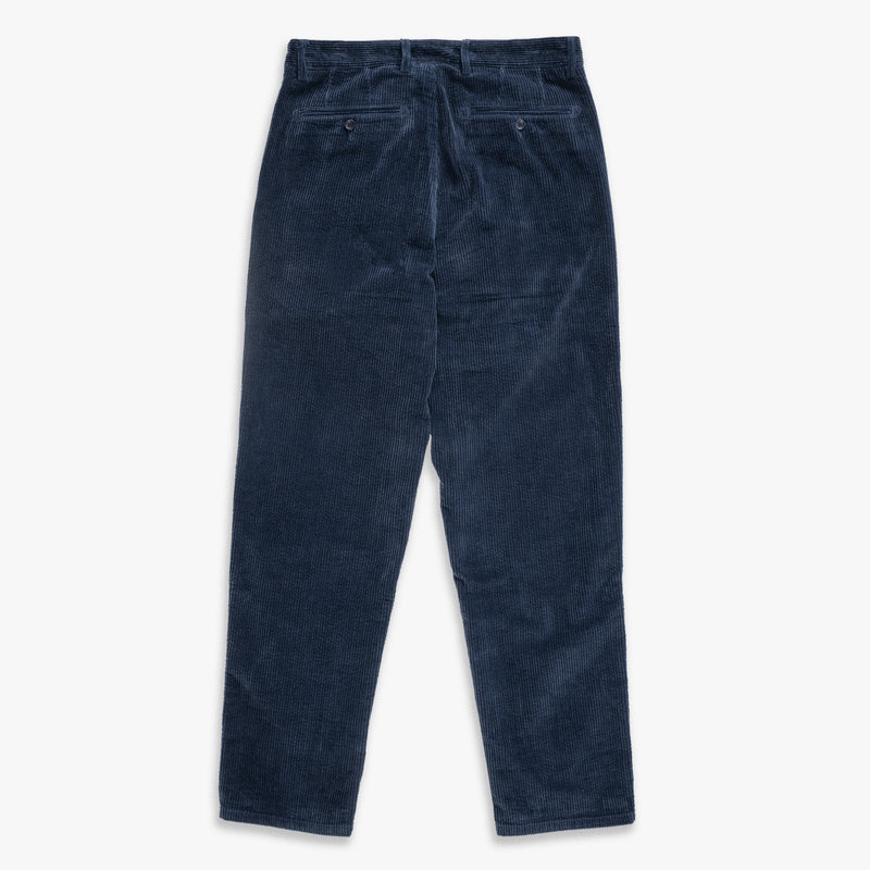 Unis New York - Roger Double Pleat Trouser - Navy Wide Wale Corduroy