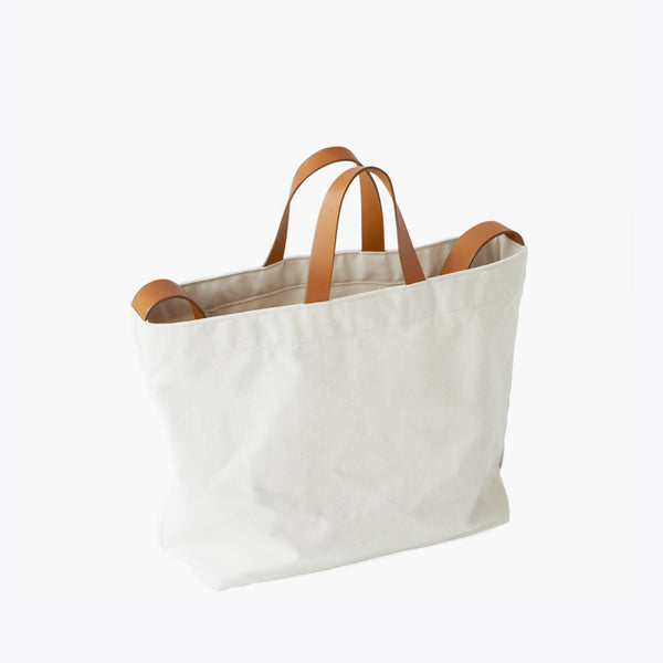 Sling Tote - Natural Canvas & Tan Leather