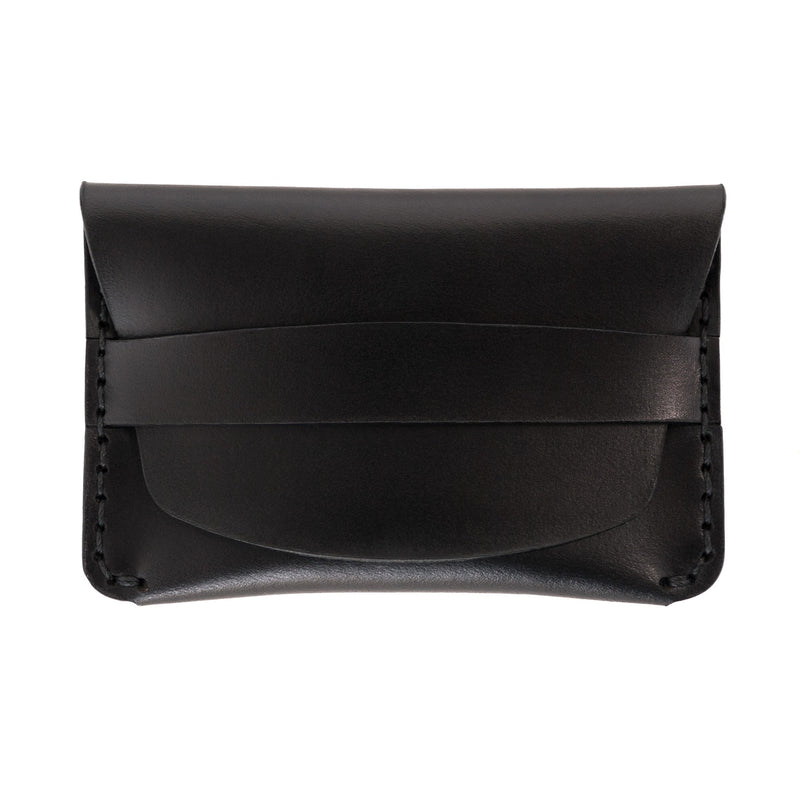 Flap Slim Wallet - Black