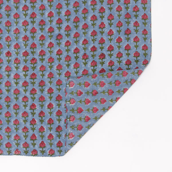 MBR - Medium Blue/Red Bud Handkerchief