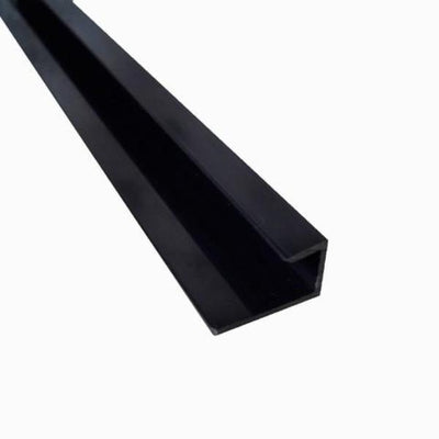 End Cap Trim Black Finish, or J Trim, Universal Trim or Starter Trim, for 10mm Cladding Wall Panels 2.4m Long