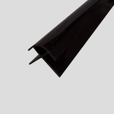 External Corner Trim PVC in Black Finish for 10mm Cladding Wall Panels 2.4m Long