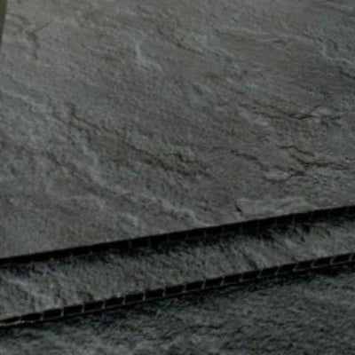 Slate Dark Grey Charcoal Bathroom Wall Panels PVC 5mm Thick Cladding 2.6m x 250mm