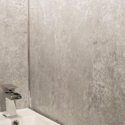 Concrete Grey 8mm Wall Panels For Bathrooms
