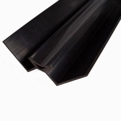 Sample Of 10mm Black Internal Corner Trim In Black - For 10mm Wall Panels