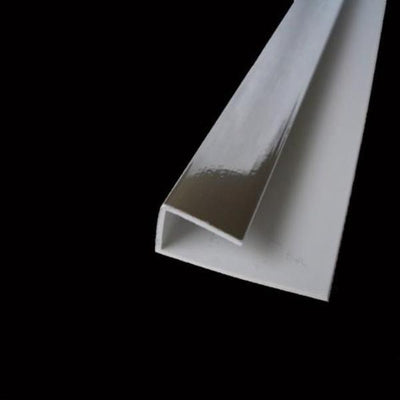 End Cap Trim Chrome, or J Trim, Universal Trim or Starter Trim For 10mm Wall Panels 2.4m Long