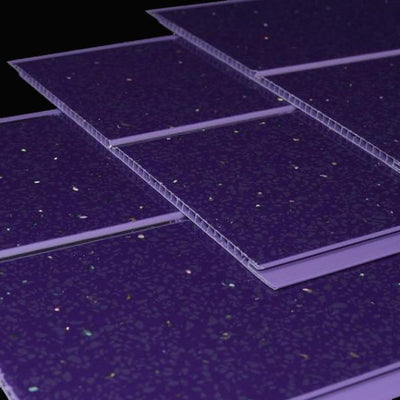 Purple Sparkle Chrome 5mm PVC Panels For Walls
