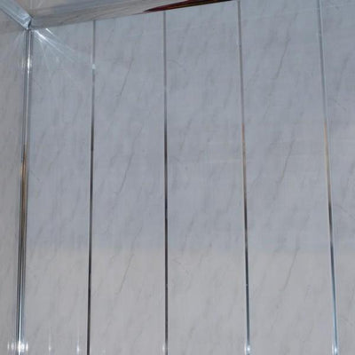 Light Grey and Chrome 5mm PVC Panels For Walls