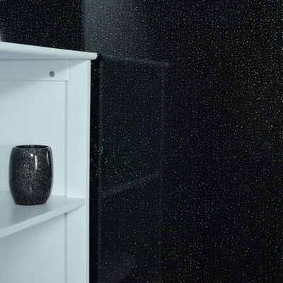 Sample of Black Dew 10mm Thick Large PVC Shower Boards