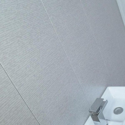 Platinum Grey Montage Textured PVC Bathroom Wall Panels 2.7m x 300mm