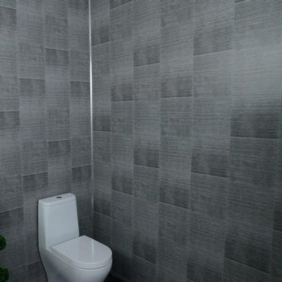 Sample of Dark Grey Large Tile Effect 5mm Wall Panels