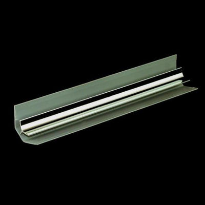 Sample of Internal Corner Chrome Trim Finish for Cladding Wall Panels