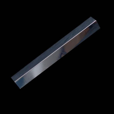 Sample of Rigid Angle Corner Trim Chrome Finish for Cladding Wall Panels.