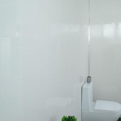 Sample of Gloss White Cladding Bathroom Wall & Ceiling Panels