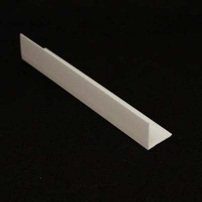 Sample of Rigid Angle Corner Trim in White Finish for General Purpose & Cladding Wall Panels.