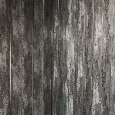 Anthracite Mist & Chrome Bathroom Wall Cladding 5mm Panels 2.6m x 0.25m