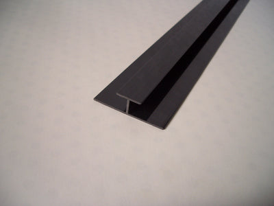Black H Trim, Joining Strip For 5mm Cladding Wall Panels 2.6m Long