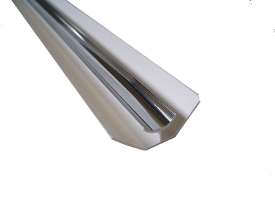 Internal Corner Trim, Chrome Finish for 5mm Cladding Wall Panels 2.6m Long