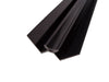 Black Internal Corner Trim In Black For 10mm Wall Panels 2.4m Long - Claddtech