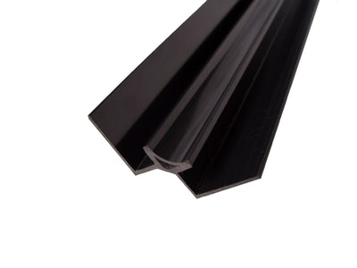 Black Internal Corner Trim In Black For 10mm Wall Panels 2.4m Long