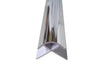 External Corner Trim in Chrome For 10mm Wall Panels 2.4m Long - Claddtech