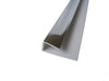 End Cap Trim Chrome Finish, or J Trim, Universal Trim or Starter Trim, for 8mm Cladding Wall Panels 2.6m Long - Claddtech