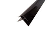 External Corner Trim PVC in Black Finish for 10mm Cladding Wall Panels 2.4m Long - Claddtech