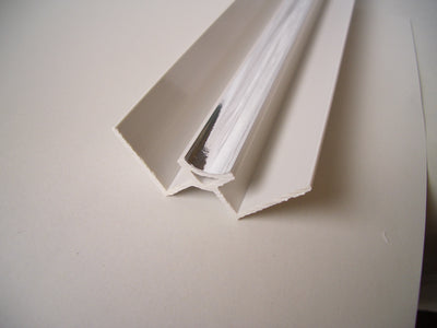 Internal Corner Trim In Chrome For 10mm Bathroom Wall Cladding Panels 2.4m Long