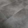 Anthracite Metallic Dark Grey Stone Tile SPC Stone Reinforced Composite Waterproof Flooring 1.86m² (£26.85 per m²)